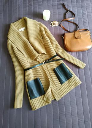 Шерстяной кардиган, свитер (30% шерсть) оригинал