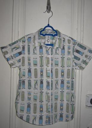 Рубашка 8 лет.рост 128см