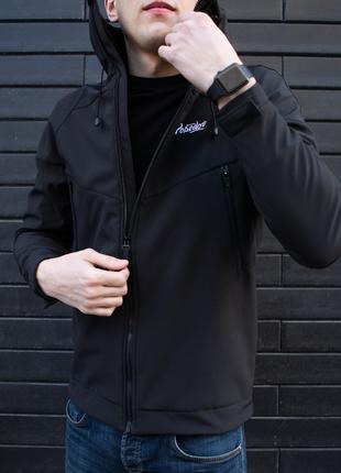 Куртка мужская Soft Shell черная S, M, L, XL