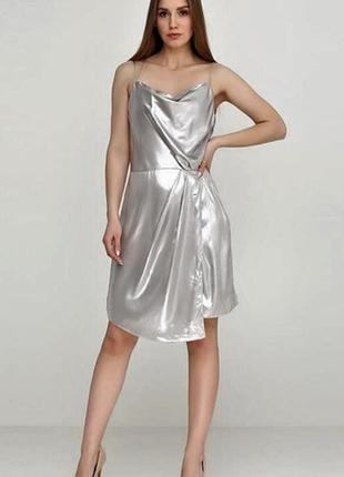 Металлизированное платье h&m