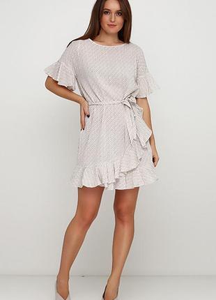 Платье с оборками и рисунком h&m