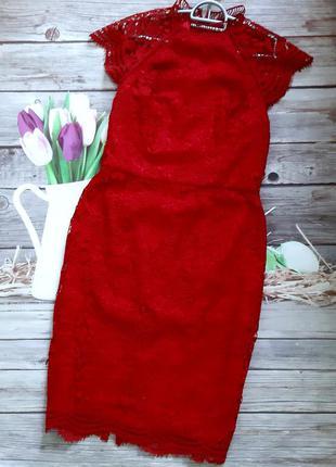 Стильное ажурное платье миди