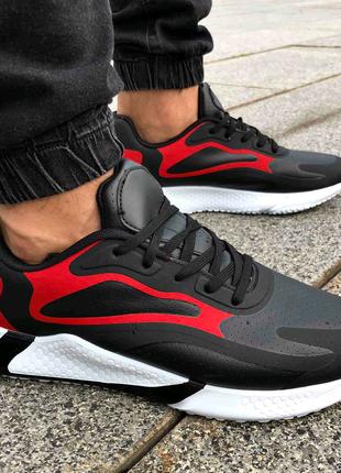 Мужские повседневные кроссовки под стиль adidas черного цвета