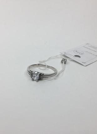 Серебряное кольцо с камнем 925 проба мечта принцессы