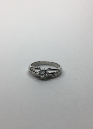 Серебряное шикарное необычное плетёное кольцо с камнем 925 про...