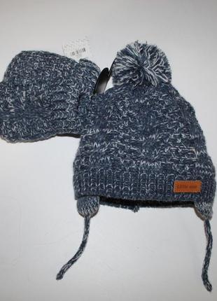 Зимняя шапочка primark и варежки.(0-3)