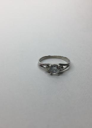 Серебряное шикарное кольцо с камнем 925 проба королевская корона