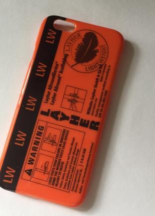 Яркий оранжевый чехол бампер на телефон айфон iphone 6 6s layh...