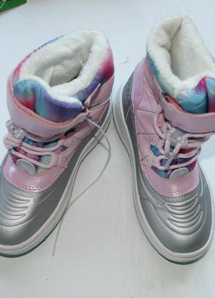 Зимние крутые  термики ботинки lupilu  размер 24; 27;30