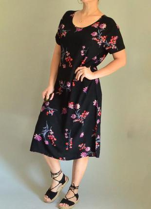 4505\50 летнее платье из вискозы bonmarche xxl