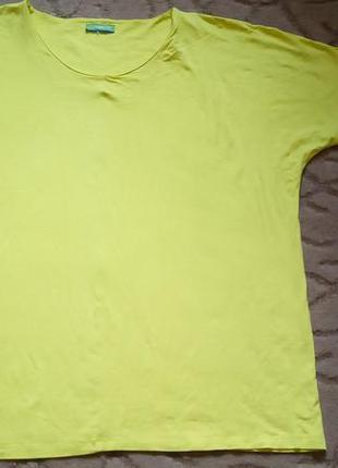 Лимонная футболка line plus большой размер 20-22-24
