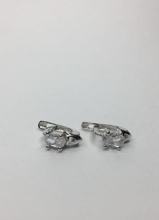 Серебряные серьги с камнями 925 проба