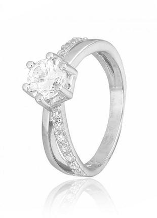 Серебряное кольцо с камнем помолвка 925 проба