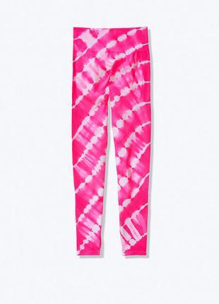 Яркие бесшовные лосины victoria's secret pink