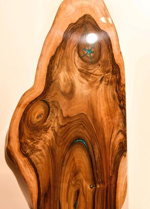 Стол Столешница из дерева ОРЕХ и эпоксидной смолы