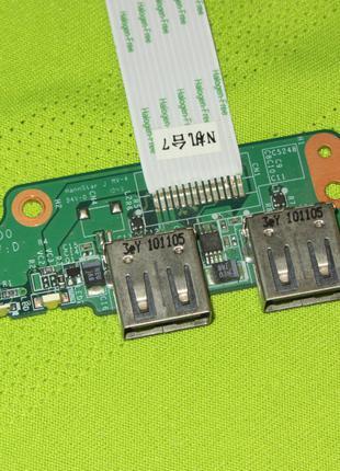 Плата USB HP Pavilion DV7-4000 series 36LX7UB0000 DA0LX7TB4D0
