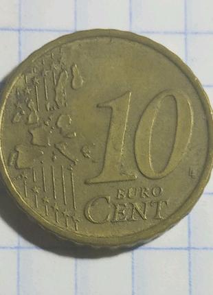 10 EURO CENT 2007 года