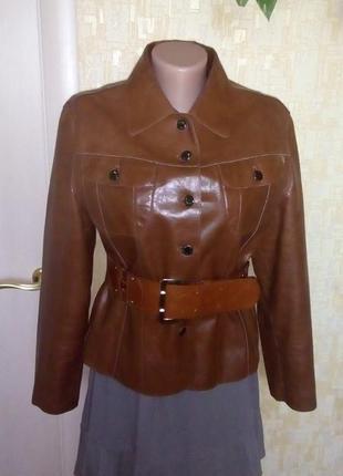 Стильная куртка из 100 % лаковой кожи/кожаная куртка/жакет/пид...