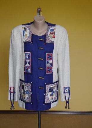 Піджак-жакет на 40 євро розмір льон+котон, бомбезний, umberto ...
