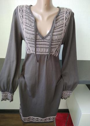 Платье в этно стиле zara