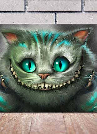Картины на холсте Алиса в Стране Чудес Чеширский кот Шляпник Чаеп