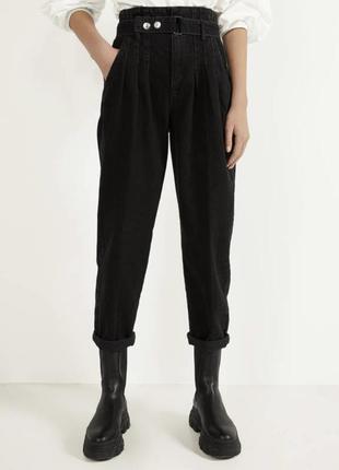 Джинси широкі, трендові чорні джинси, джинсы 2020, черные широ...