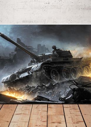 Картины живопись холст танки танк техника T34 Т50 Е100 Type 5