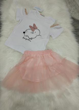 ✍🏻красивый оригинальный костюмчик с принтом кролика