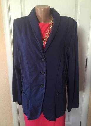 Пиджак женский больших размеров серый синий s.oliver