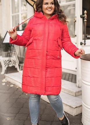 Куртка женская удлиненная осень-зима большие размеры