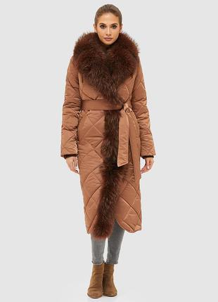 Зимнее женское стеганое пальто размер-42
