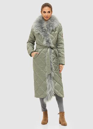 Зимнее женское стеганое пальто размер-44