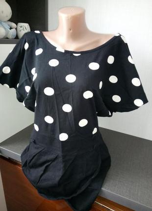 Блуза чёрная в горох