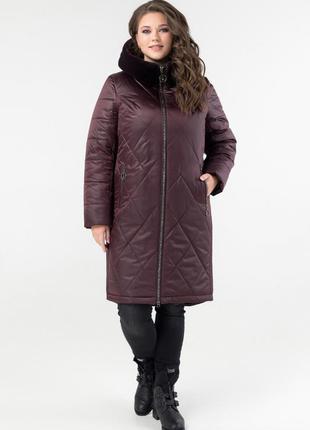 Удлиненная зимняя женская куртка размеры:50-60