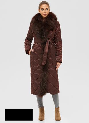 Зимнее женское стеганое пальто размеры: 42,44