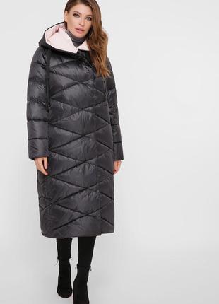 Пальто женское с капюшоном стеганое размеры: 48-56