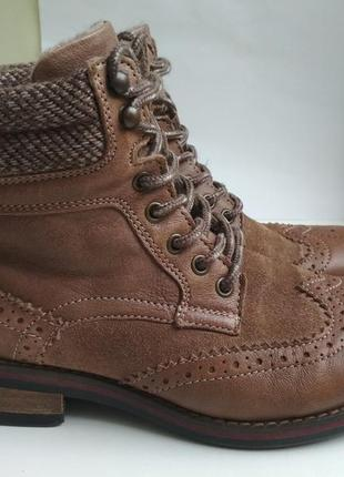 Демисезонные кожаные ботинки brax feel good р.37 германия