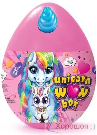 Яйцо-сюрприз Единорог 35 см. Unicorn wow box Danko Toys uwb-01-01