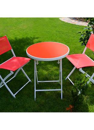 Комплект стол садовый и 2 стула Stenson MH-2746