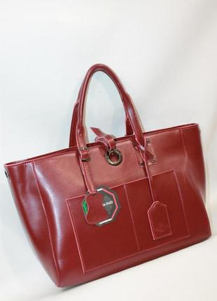 Женская кожаная сумка жіноча шкіряна шоппер а4