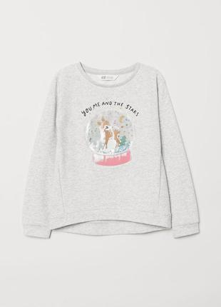 Кофта свитшот на 4-6 лет, h&m sweatshirt with motif