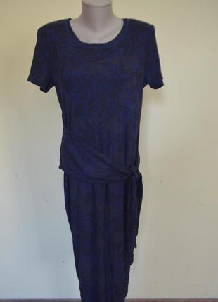 Красивое котоновое трикотажное платье котон+вискоза