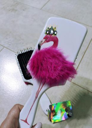 Расческа для волос фламинго, большая расческа