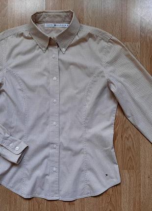 Рубашка tommy hilfiger (хлопок), р.36