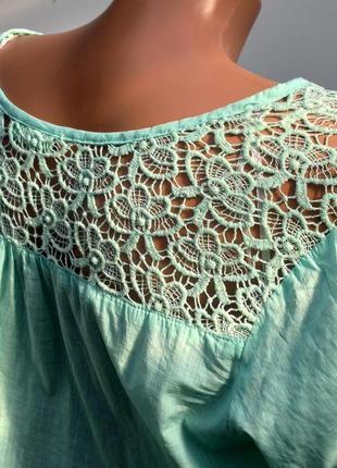 Блуза з кружевом розмір наш 58 ( к-28)