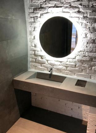 Умывальник мойка раковина вазон столешница из бетона лофт стиль