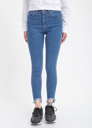 Джинсы женские цвет светло-синий размер s