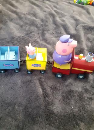 поезд Пеппа peppa pig паровозик