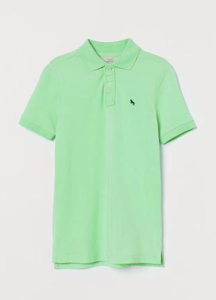 10-12/12-14 л h&m новая тенниска футболка поло стильному мальч...
