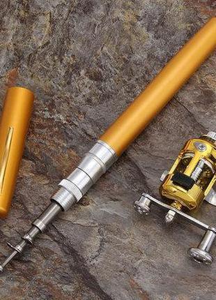 Удочка складная с катушкой и леской,телескопическая Fishing rod